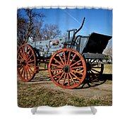 Us Buckboard Wagon Shower Curtain