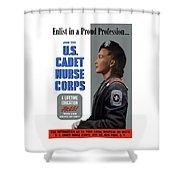Us Cadet Nurse Corps - Ww2 Shower Curtain