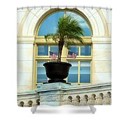 Us Capital Building Window Shower Curtain