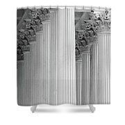United States Capital Columns Shower Curtain