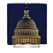 U.s. Capitol At Night Shower Curtain