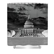 Us Capitol Washington Dc Negative Shower Curtain