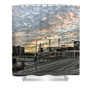 Us Cell Sunset Shower Curtain