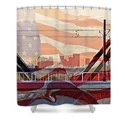 Us City Shower Curtain