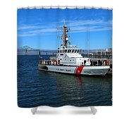 Us Coast Guard On Columbia River Shower Curtain