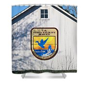 Us Fish And Wildlife Service Sign  3931 Shower Curtain