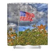 Us Flag 8091 Shower Curtain