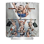 U.s. Grant Cartoon, 1880 Shower Curtain by Granger