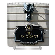 Us Grant Corner Plaque Shower Curtain