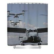 U.s. Marine Corps Mv-22 Osprey Shower Curtain