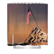 Us Marine Corps War Memorial 3 Shower Curtain