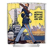 U.s. Marines Active Service On Land And Sea Shower Curtain