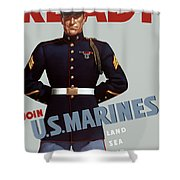Us Marines - Ready Shower Curtain