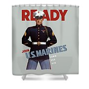 Us Marines - Ready Shower Curtain