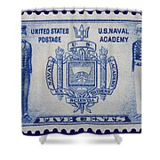 Us Naval Academy Postage Stamp Shower Curtain