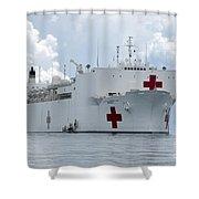 U.s. Naval Hospital Ship Usns Mercy Shower Curtain