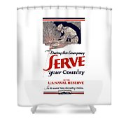 Us Naval Reserve Serve Your Country Shower Curtain