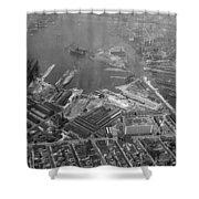 U.s. Naval Yard In Brooklyn Ny Photograph - 1932 Shower Curtain