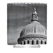 U.s. Naval Academy Chapel Dome Bw Shower Curtain