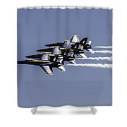 Us Navy Blue Angels Shower Curtain