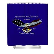 Us Navy Desert Storm Shower Curtain