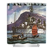 U.s. Navy Travel Poster Shower Curtain