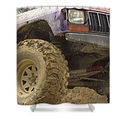 Us Off Road Car Shower Curtain