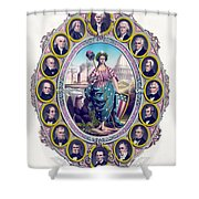 Us Presidents And Lady Liberty  Shower Curtain