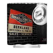 Us Route 66 Briggs And Stratton Signage Sc Shower Curtain