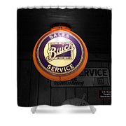 Us Route 66 Buick Sales Globe 02 Sc Shower Curtain