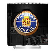 Us Route 66 Cadillac Service Globe Sc Shower Curtain