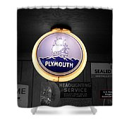 Us Route 66 Plymouth Sales Globe Sc Shower Curtain