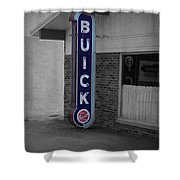 Us Route 66 Smaterjax Dwight Il Buick Signage Sc Shower Curtain