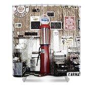 Us Route 66 Smaterjax Dwight Il Gas Pump 01 Pa 01 Shower Curtain