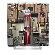 Us Route 66 Smaterjax Dwight Il Gas Pump 01 Pa 02 Shower Curtain