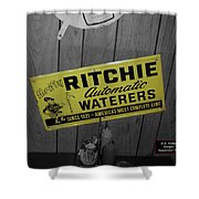 Us Route 66 Smaterjax Dwight Il Rare Waterers Signage Shower Curtain