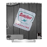 Us Route 66 Smaterjax Dwight Il Sinclair Gasoline Signage Shower Curtain