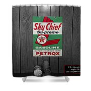 Us Route 66 Smaterjax Dwight Il Sky Chief Supreme Signage Shower Curtain