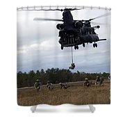 U.s. Soldiers With The 7th Special Shower Curtain