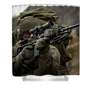 U.s. Special Forces Soldier Armed Shower Curtain