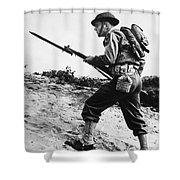 U.s World War II Infantry, 1942 Shower Curtain