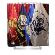Usa Armed Forces Swearing In Shower Curtain