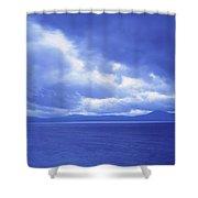 Usa, California, Lake Tahoe, Storm Shower Curtain