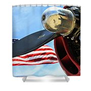 Usa Flag Bomber Wwii  Shower Curtain