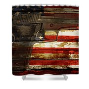 Usa Handgun Shower Curtain