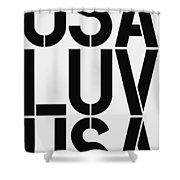 Usa Luv Shower Curtain