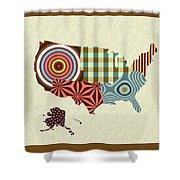 Usa Map Shower Curtain