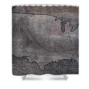 Usa Map Outline On Concrete Wall Slab Shower Curtain