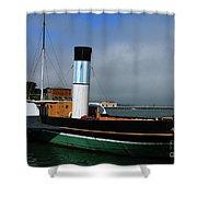 Usa Paddle Steamer Eppleton Hall Newcastle Shower Curtain