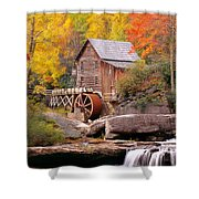 Usa, West Virginia, Glade Creek Grist Shower Curtain